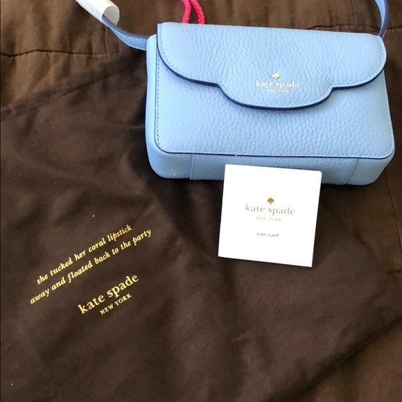 kate spade Handbags - NWT Kate Spade Cross Body Clutch in baby blue